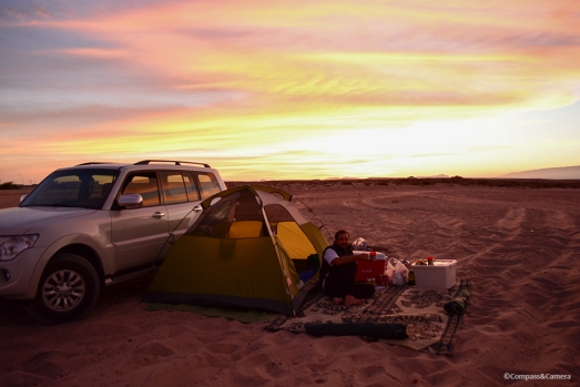 Beach camping outside of Muscat