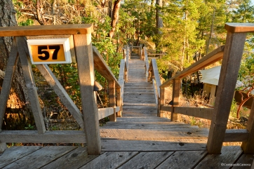 Stairs to Tent Cabin 57