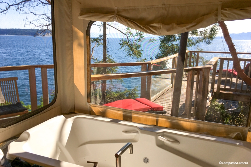 View from the bathtub