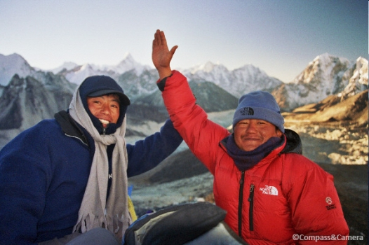 Our guides to the top of Kala Patthar