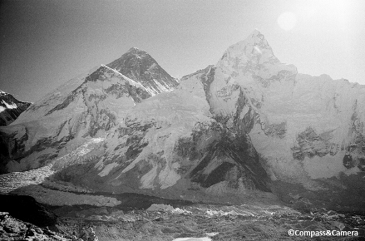 Mount Everest and Nuptse (right)
