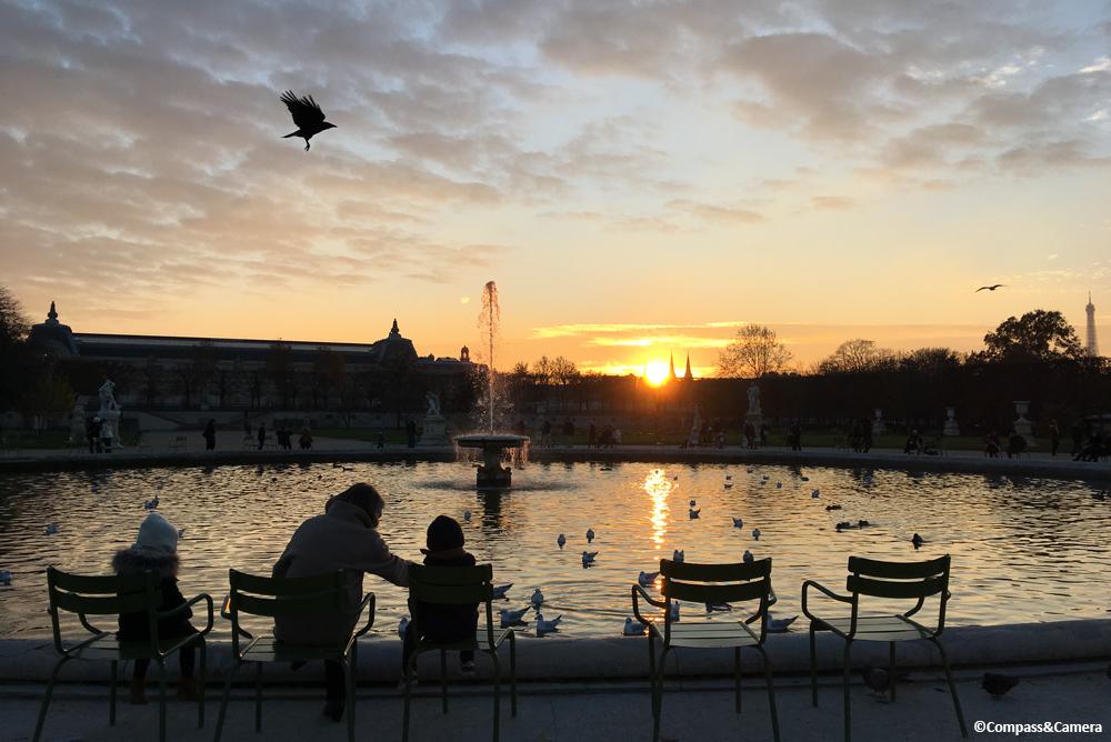 Sunset at Jardin des Tuileries