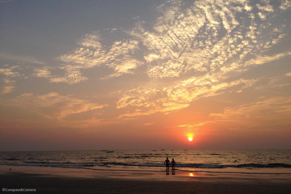 Sunset in Goa, India
