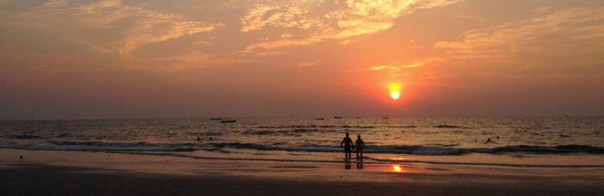 Sunset in Goa, India