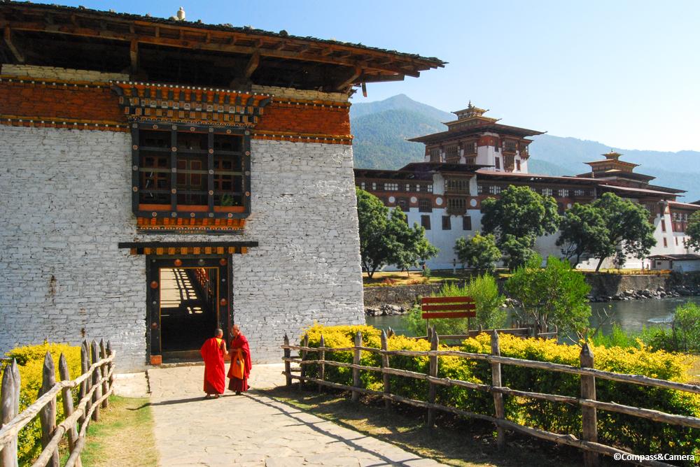 Footbridge to Punakha Dzong, Bhutan