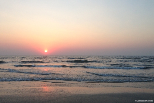 Sunset at Benaulim Beach, Goa