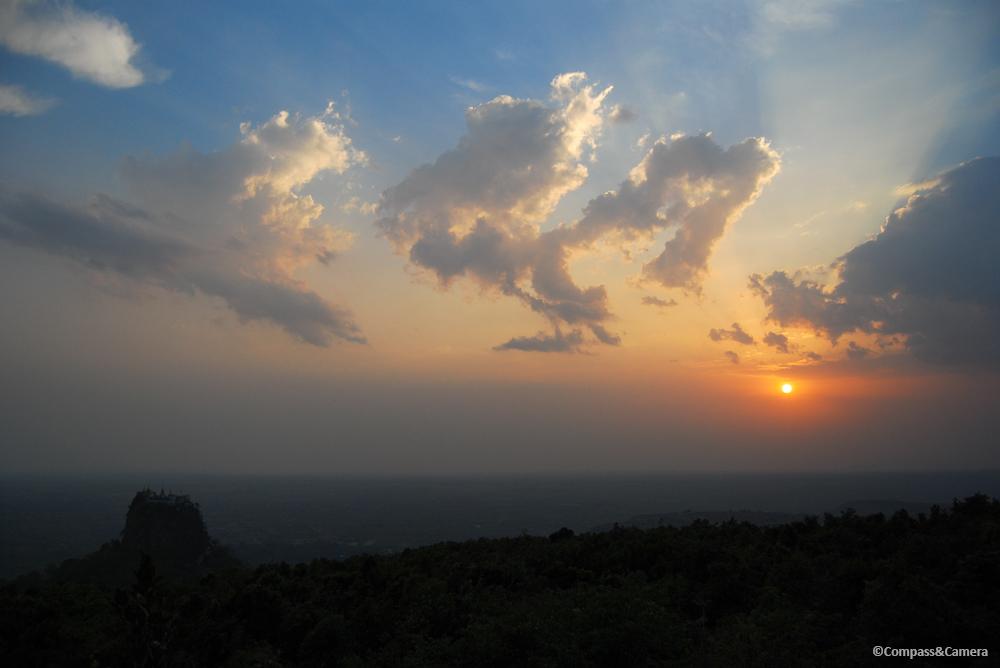 Sunset over Taung Kalat Monastery