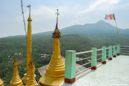 View of Mount Popa from Taung Kalat Monastery