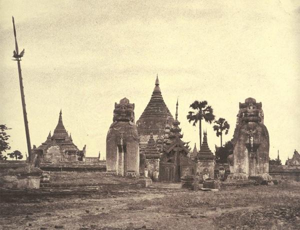 Shwezigon Pagoda by photographer Linnaeus Tripe, courtesy of Wikimedia Commons