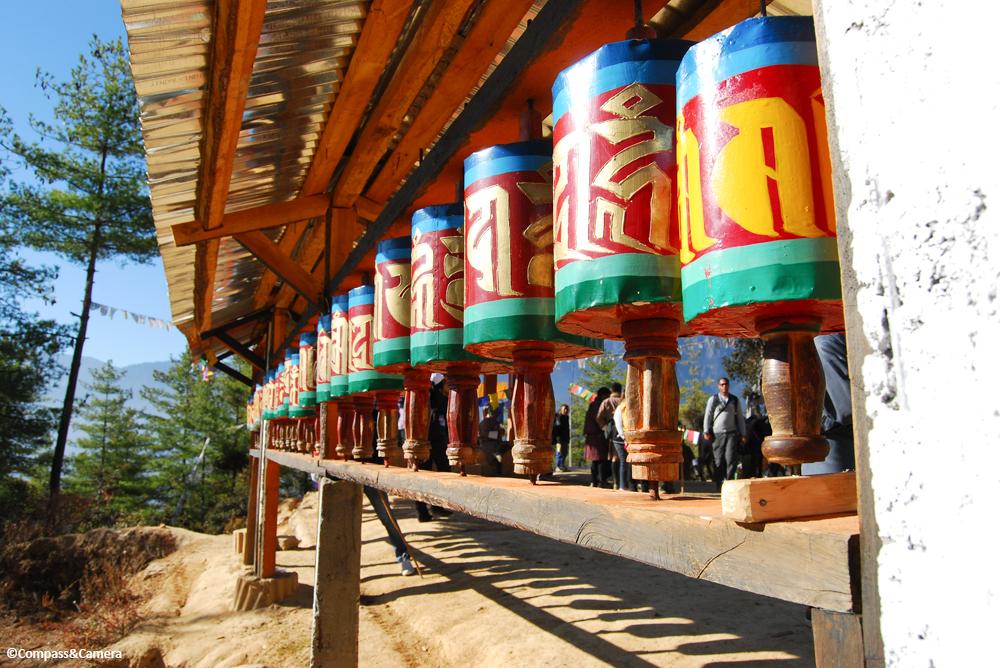 Prayer wheels at Tiger's Nest