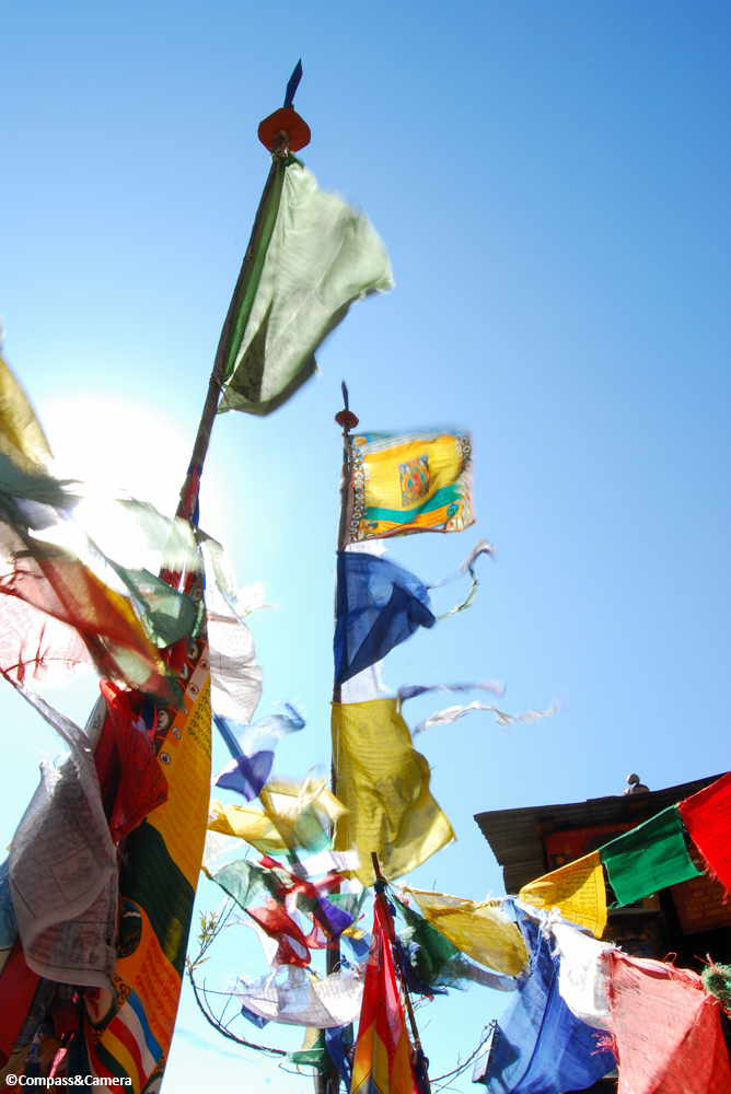 Prayer flags at Tiger's Nest