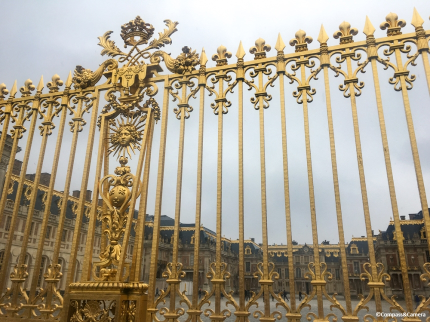 Gilded Gate at the Royal Court, Versailles