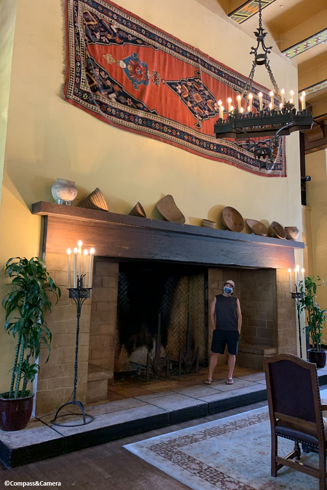 Fireplace, for scale