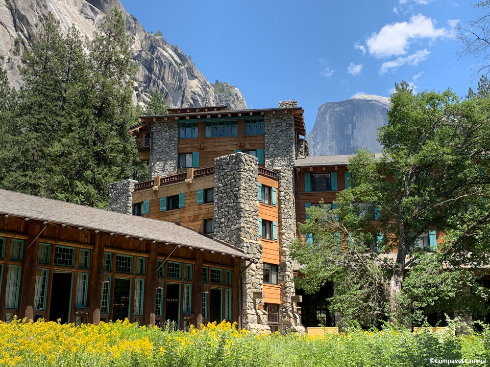 The Ahwahnee Hotel and Half Dome