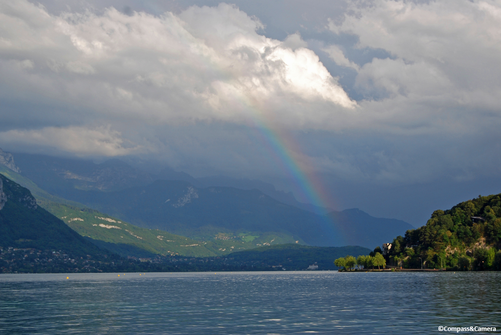 Rainbow over Lac d'Annecy