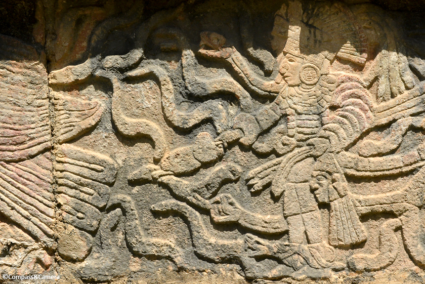 Warrior Holding a Head at Chichen Itza