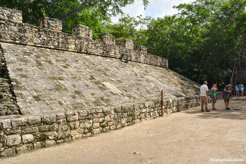 Ball court side wall
