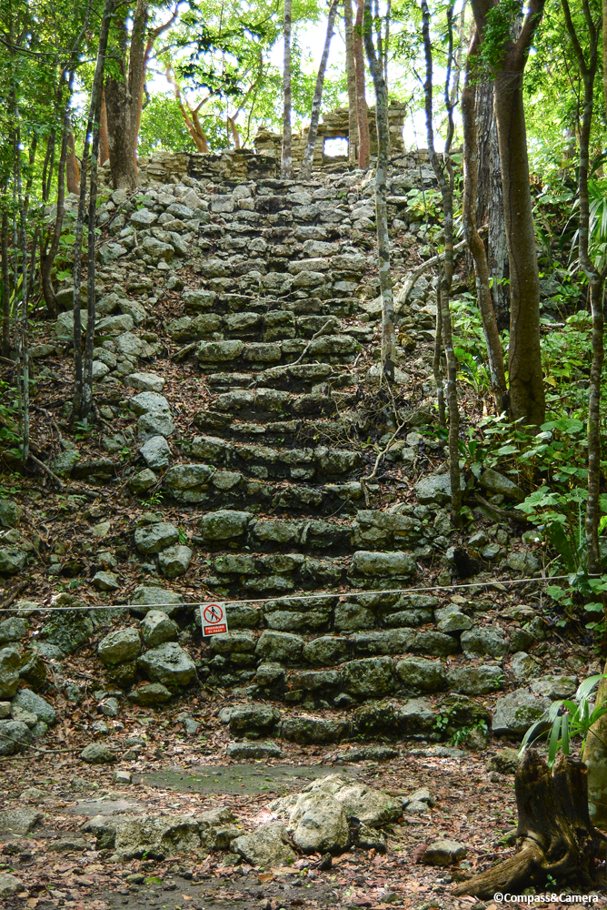 Unidentified staircase and structure at Cobá