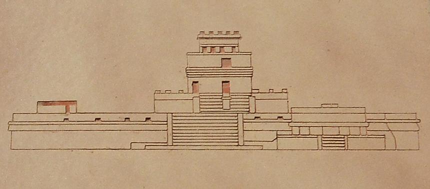 Drawing of El Caracol