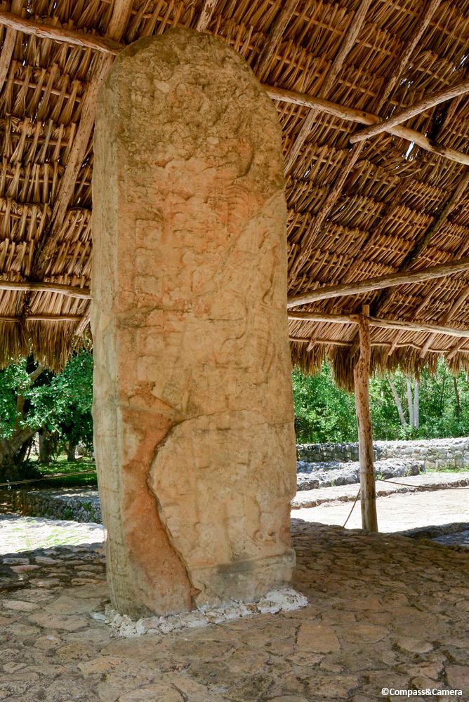 Stone stela at Ek Balam