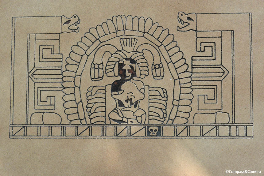 On-site drawing of the frieze
