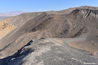 Trail to smaller craters