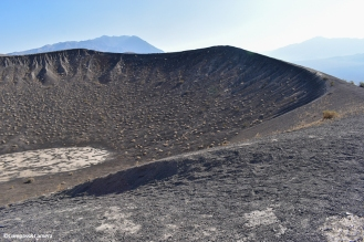 Smaller crater