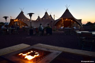 Firepit at the main tent