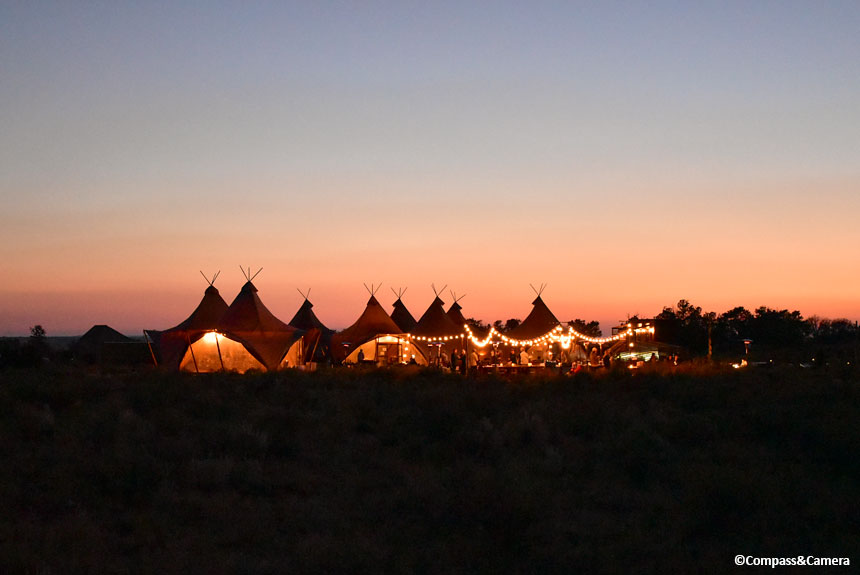 Sunset at Under Canvas