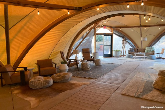 Lounge at Under Canvas