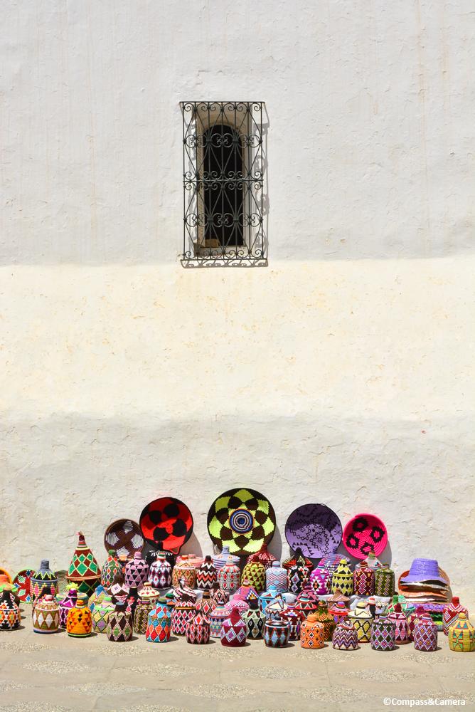 Berber baskets in Asilah, Morocco