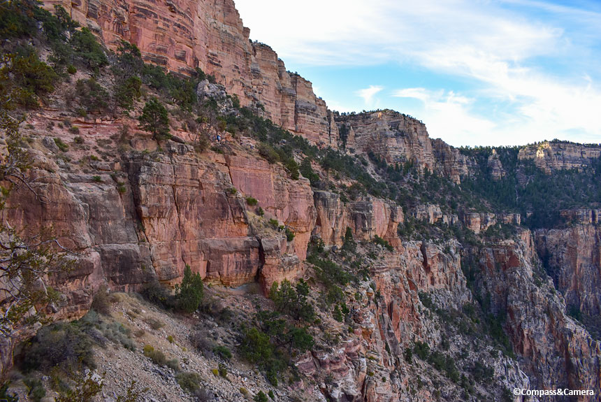 Grand Canyon Wall from the South Kaibab Trail