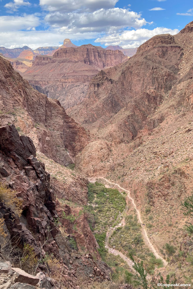 Looking back at Bright Angel Trail