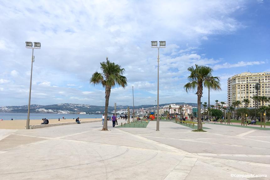 Boardwalk along Plage Malabata