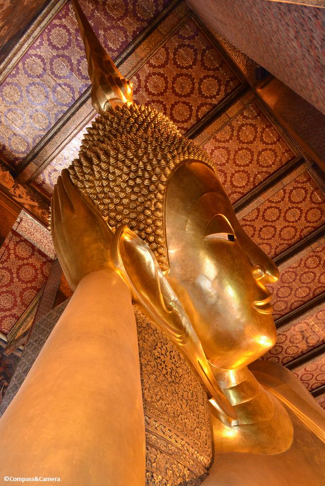 Looking up at the Reclining Buddha