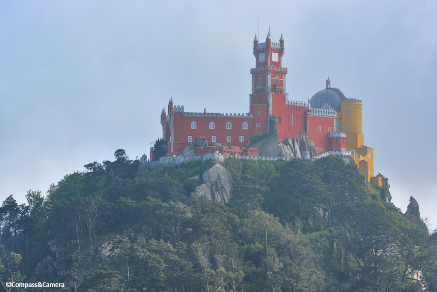 Pena Palace from the Castle of the Moors