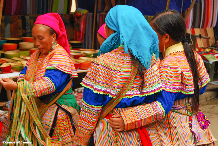 Women of the Flower Hmong Hill Tribe